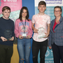 Tommie Dempsey (Distinction in Leaving Certificate Applied), Austeja Balkute and Mateusz Diadek (Best Leaving Cert results 2019) and deputy-principal Kay Kennedy at the annual Academic Junior Cert Awards ceremony on Friday (25th)
