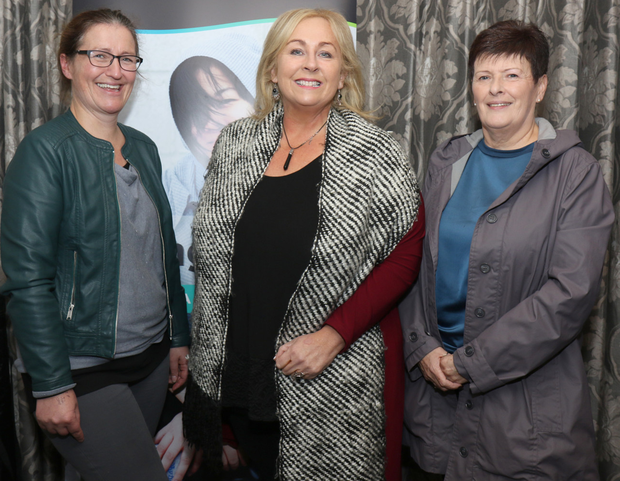 Jacqueline Colfer (social worker in fostering), Regina Dempsey (foster carer) and Margaret Long (foster carer) at the Tusla Fostering information night in the Riverside Park Hotel