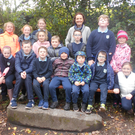 Pupils from Casltedockrell National School with teachers Ms Johnston and Ms Stone during their recent visit to Altamont Gardens