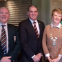 Pictured, left to right, are: Mike Barry (Chairman of Sundays Well RFC); Minister for Defence Paul Kehoe TD; Cllr Kathleen Codd-Nolan; Cllr Barbara-Anne Murphy, and Niall Wall, President of Enniscorthy RFC