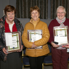 May Wilson (previous garden winner), Rosie O'Sullivan (hanging baskets/window boxes), Maisey McKeown (on behalf of Joe Breen, hanging baskets/window boxes) and Margaret Walker (small gardens)