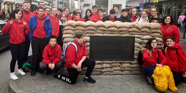 The students enjoyed their visit to Checkpoint Charlie