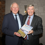 Joe Casey and Tony Dempsey at the launch of Joe Casey's book 'Sixty Years at the Cutting Edge' in Mernagh's of Oylegate