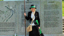 Maria Nolan, from Enniscorthy Historical Re-enactment Society