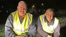 Tom Dempsey and Bernard O'Leary from St Aidan's Neighbourhood Watch