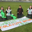Michelle Kiely, Caoilin Kavanagh, teacher Anne Marie Roche, Megan Stacey and Becky Tobin