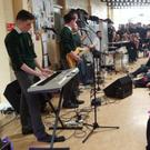 Students performing at the Le Cheile Day in FCJ Bunclody during lunchtime