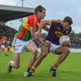 Wexford's Brian Malone in action against Sean Gannon of Carlow in the Leinster championship in 2017. Malone returns to the Wexford panel in early January