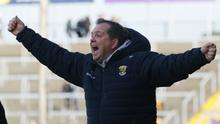 A typically animated Davy Fitzgerald on the sideline in Chadwicks Wexford Park on Sunday.