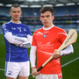 Fethard captain Garrett Foley in Croke Park yesterday (Monday) with his Ardmore counterpart, Declan Prendergast