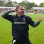 Davy Fitzgerald celebrates after the final whistle in Innovate Wexford Park on Sunday