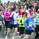 Slaney Olympic Enniscorthy 10K race Sunday,Some of the back markers as they set out from the start.