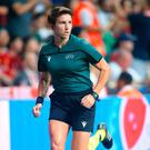 Assistant referee Michelle O'Neill during the UEFA Super Cup final in Istanbul