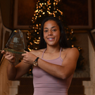 Rianna Jarrett with her player of the year award at the function in Limerick on Saturday