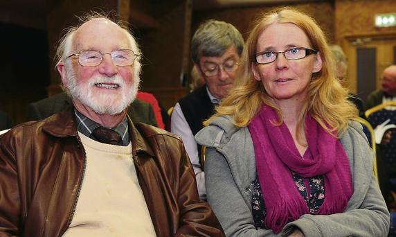 Brendan O'Loughlin and Patricia Kinsella at the book launch.