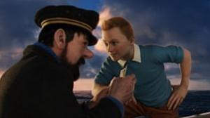 Captain Haddock (voiced by Andy Serkis) and Tintin (Jamie Bell) in The Adventures of Tintin (Sunday, Channel 4, 2.15pm)
