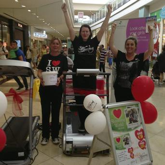 Fingal Slimming World members taking part in the 'Race at Your Place' challenge