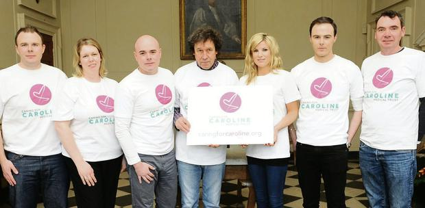 Actor Stephen Rea, centre, at the launch of the Caring for Caroline Trust.