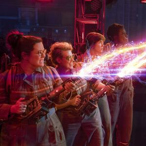 Melissa McCarthy, Kristen Wiig, Kate McKinnon and Leslie Jones tackle some ghosts in Ghostbusters