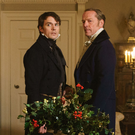 Sam Claflin as Philip and Iain Glen as Kendal in My Cousin Rachel