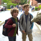 Jacob Tremblay as Auggie Pullman and Nosh Jupe as Jack Will in Wonder