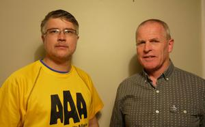 AAA election candidate, Terry Kelleher with Cllr Eugene Coppinger (AAA)
