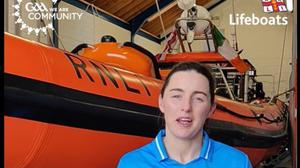 Lyndsey Davey fronting RNLI water safety campaign.