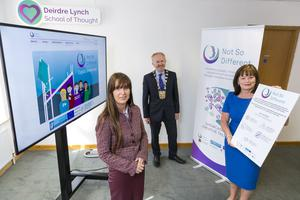 Pictured are Deirdre Lynch, CEO Not So Different, Cllr. David Healy, Mayor of Fingal, AnnMarie Farrelly, CE, Fingal. Picture by Shane O'Neill, Coalesce