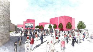 Artist's impression of what the Swords Cultural Quarter will look like when completed.
