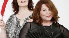 Eileen Gormley and Caroline McColl who have just released their fourth erotic novel, 'The Pleasures of Winter', under the name Evie Hunter