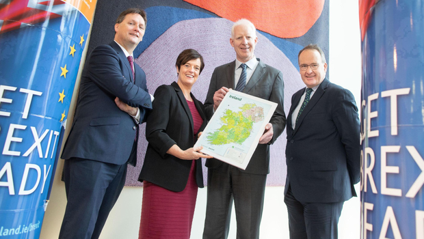Pictured at Fáilte Ireland's Head Office in Dublin were: Stephen McNally, Dalata Hotel Group; Jenny De Saulles, Fáilte Ireland's Director of Sector Development Director; Paul Kelly, CEO, Fáilte Ireland and Howard Hastings, Hastings Hotel Group based in Belfast