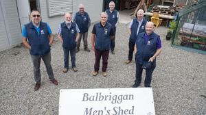Members of Balbriggan's Men's Shed are back together again after a long time apart due to the global pandemic.