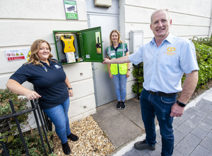 Carol Boon, Progressive Credit Union, Karl Harte, CP Electrical, and Zita Corkery, Swords Community First Responders. (pic by Fintan Clarke)