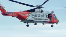 A Coast Guard helicopter was involved in the rescue