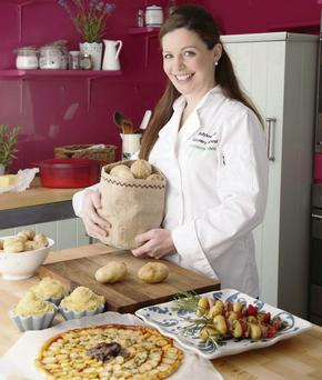 Catherine Fulvio hase developed a number of new recipes to encourage people to celebrate the spud in their cooking.