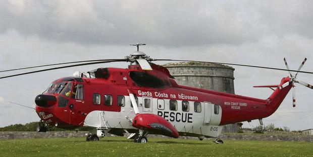 A rescue helicopter from Waterford is involved in the search
