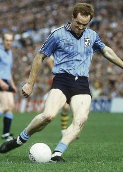 Barney Rock in action for Dublin in 1985.