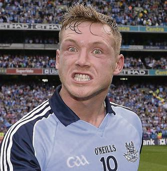 Dublin's Paul Flynn celebrates after the game. GAA Football All-Ireland Senior Championship, Semi-Final, Dublin v Kerry, Croke Park, Dublin. Picture credit: Ray McManus / SPORTSFILE