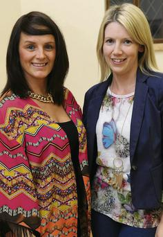 Sonya Dunne Johnson and Annemarie Ireland at the Malahide Musical and Drama Society's open night in the new Malahide Parish Centre.