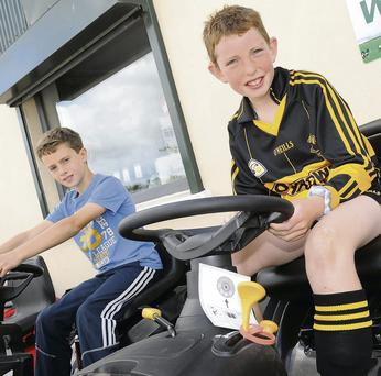 Alex Cush and Lorcan McMahon at the Fingal Farm Home and Garden open day.