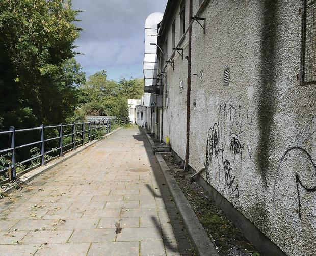 The riverwalk area at the back of the Castle Shopping Centre was 'grubby' with the banks of the river 'heavily littered'.