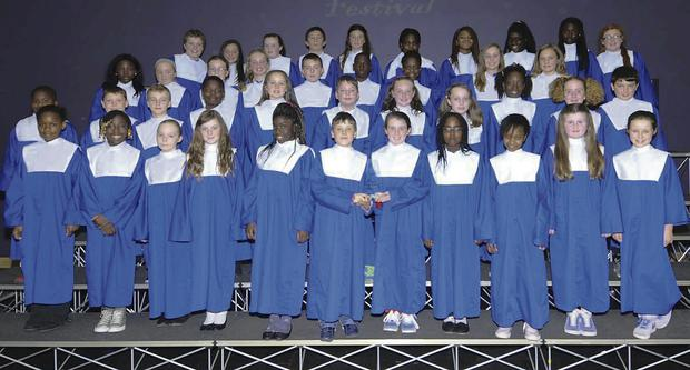 St. Molagas SNS in Balbriggan won the award for the best song in Irish.