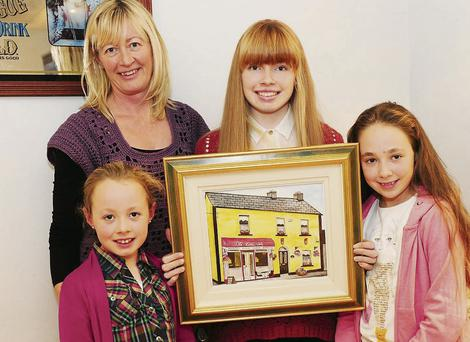 Geraldine Palmer, Ciara Palmer with Emma and Shauna McGowan at the Skerries Tidy Towns annual night out in Joe May's.