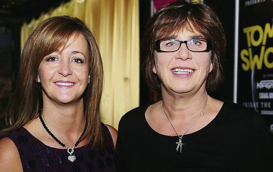 Michelle Dunne and Susan Quinn at the Strictly Come Dancing in Wright Venue.