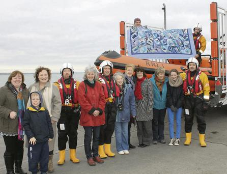 Members of the Lusk Quilters who joined Skerries RNLI