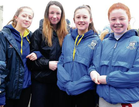 Grainne Mongey, Ellie Doran, Emer Elworthy and Abbie Brennan at the Operation Transformation launch at Argillan Castle.