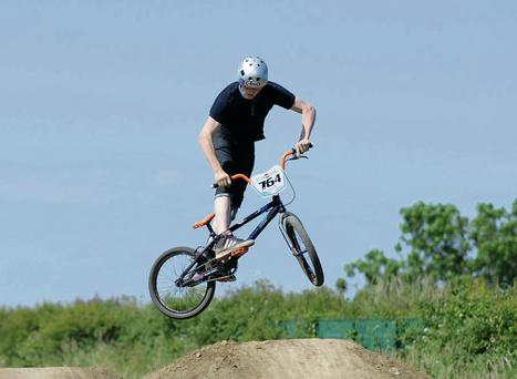 Patrick Bradley at the BMX day in Bremore Park.