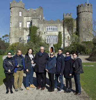 Ornella Gamacchio from Tourism Ireland (third from left) with Italian journalists during their visit to Malahide Castle.