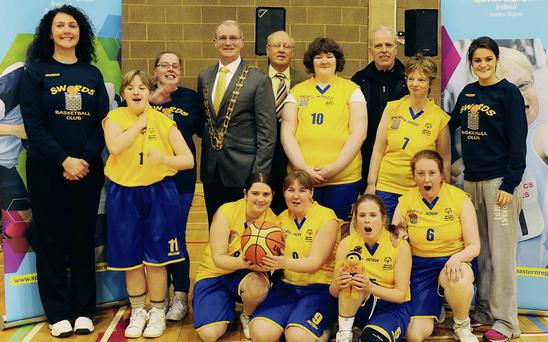 Excited faces at the announcement of Swords Basketball Club merging with Special Olympics Ireland.
