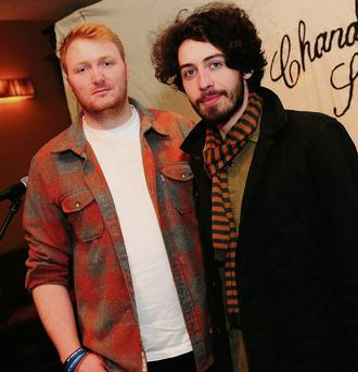 Robert Maguire and Joey Gavin, two of the organisers of the Chandelier Sessions in the Old Boro pub in Swords.